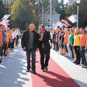 Церемония открытия клуба Sport Life в Луцке