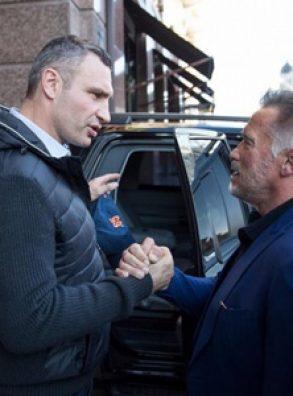 Шварценеггер посетил Киев  и встретился с Виталием Кличко